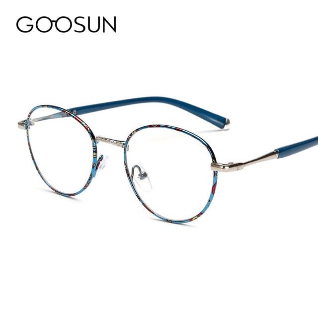 GOOSUN Fashion UV400 Eye glasses frames for women optical Computer Anti-radiation eyeglasses myopia frames clear lens glasses