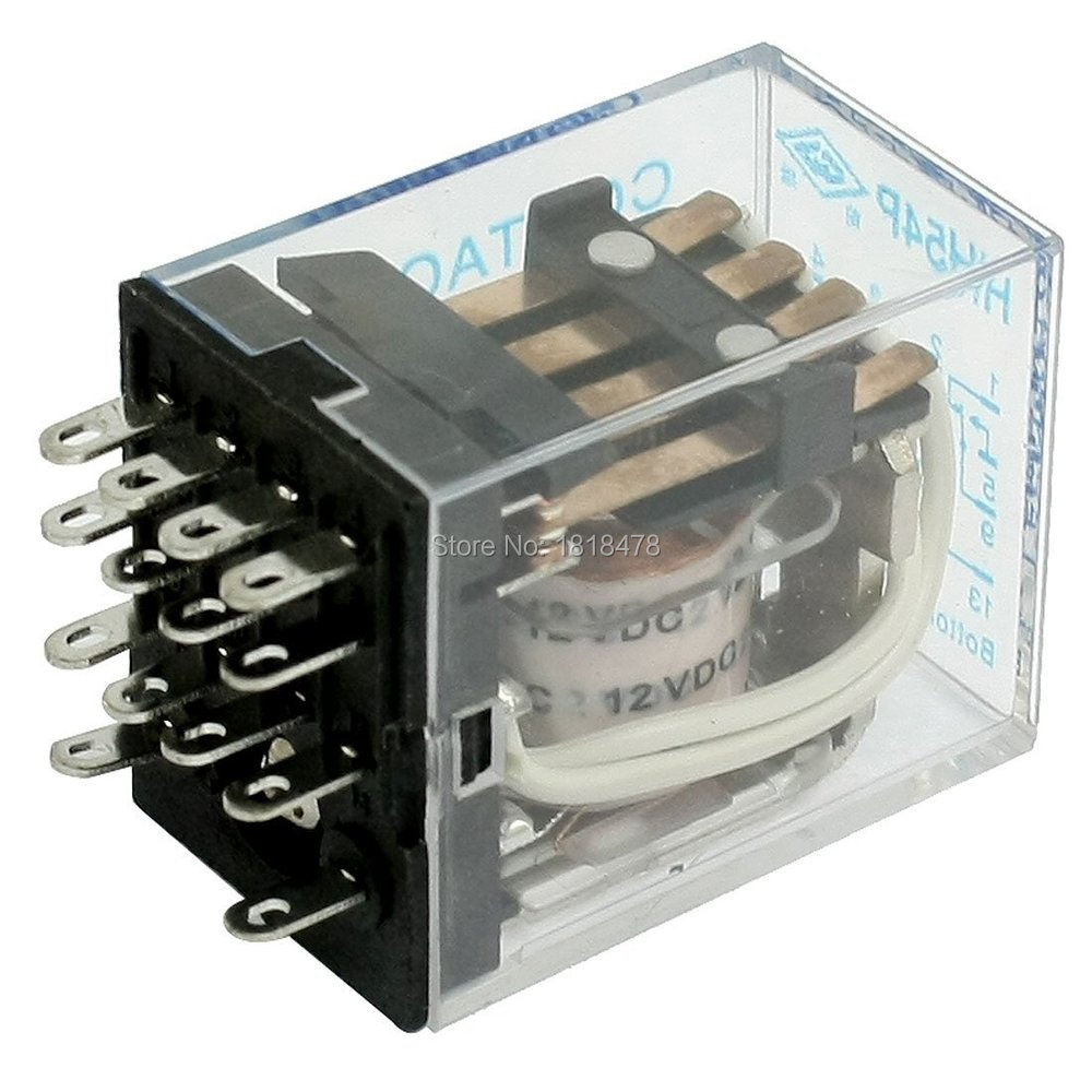 Dc12v Coil 5a 240vac 28vdc Electromagnetic Relay Hh54p 14