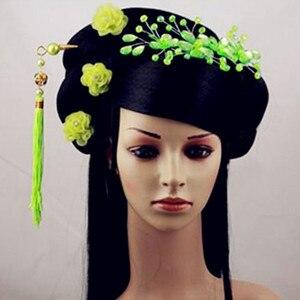 Image 4 - สีดำเจ้าหญิงอุปกรณ์เสริมผมจีนโบราณ Dynasty ผมยาวโบราณเจ้าหญิง Photo อุปกรณ์สตูดิโอ