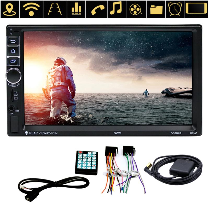 SWM 7 Touch Screen 2 Din Android Mp5 Bluetooth WIFI Auto Car GPS Navigator FM Radio 1080P Video Player Remote Control Autoradio 7 hd touch screen 2 din in dash bluetooth android car mp5 player gps navigator usb aux audio video player fm radio autoradio