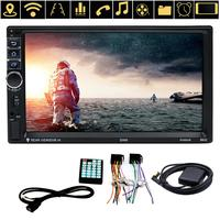 VODOOL 7inch Touch Screen 2 Din Quad Core Android Bluetooth Car Stereo GPS Navigator Radio 1080P