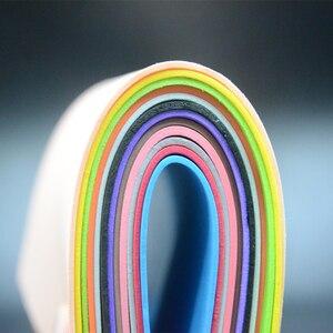 Image 3 - CONTEMPLATOR 12 farben 2mm dicke fliegen binden schwimm Schaum 4 blätter/pack EVA platz papier fliegen angeln materialien für gras trichter