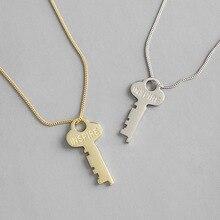 HFYK 925 Sterling Silver Necklace Key Pendant Necklaces For Women Letters Necklace collares joyas de plata 925 colier femme 2019 цена и фото