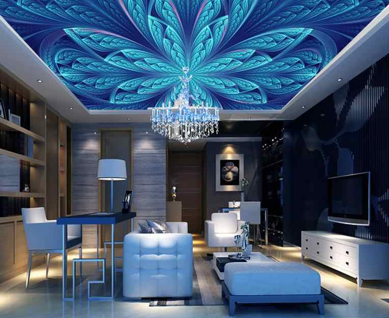 customize high quality 3D ceiling-wall-paper Pattern 3d photos ceiling murals kitchen wallpaper on the ceiling