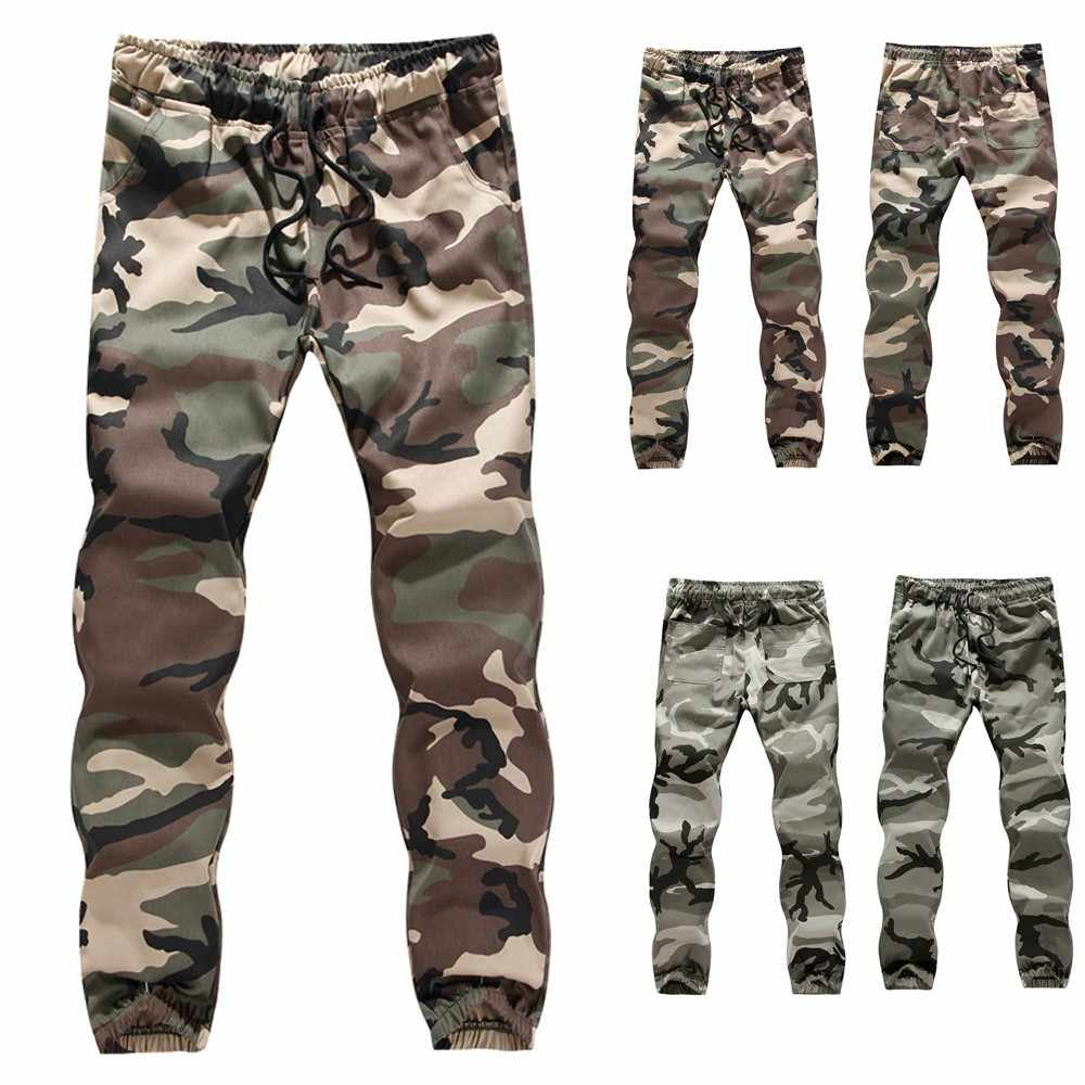 Womail Mens ฤดูใบไม้ร่วงฤดูหนาว Camouflage Casual Jogger Camo Sportwear Baggy Harem กางเกงกระโปรง Belted กางเกง Sweatpants 9.13