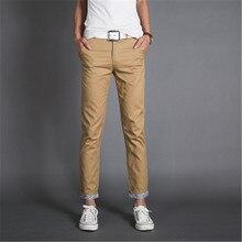 Herrenbekleidung Jeans 2016 Neue Ankunft Vier Saison Männer Jeans, Retail & Großhandel Dünne Gerade Hosen Schwarz khaki baumwolle Jeans Männer