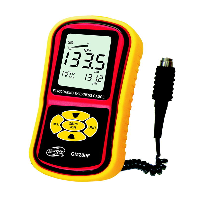 0-1800um Digital Film/Coating Thickness Gauge Portable LCD Split Paint Plating Coating Thickness Meter With Magnetic Probe cm 8000 hexagon wet film comb for coating thickness tester meter 5mil 118mil
