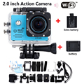 Add battery + charger Free shipping Hero 4 style Waterproof Action WIFI Camera 2.0 LTPS LED Sports Mini Action Cam 1080P HD DV