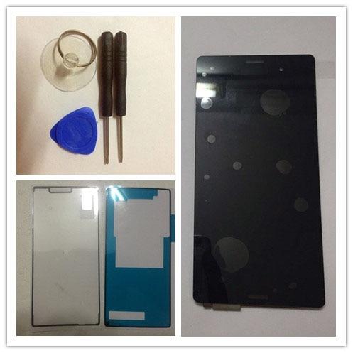 Цена за Белый или черный для Sony Xperia Z3 D6603 D6643 D6653 D6633 L55t ЖК-дисплей сенсорный экран Digitizer Ассамблеи + наклейки + Инструменты