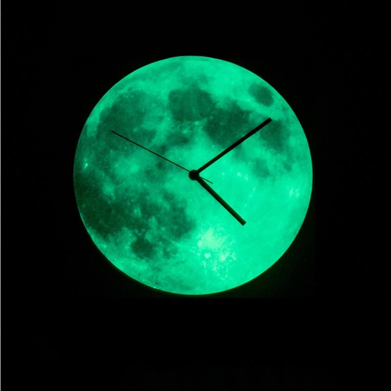 Creative Brief Wall Clock With Night Light Modern Design