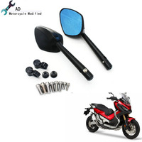 Moto Rear View Mirror for Honda XADV 750 Rear view Mirror Blue Glass Side Mirror for Honda X ADV 2018 Motorcycle Accessories