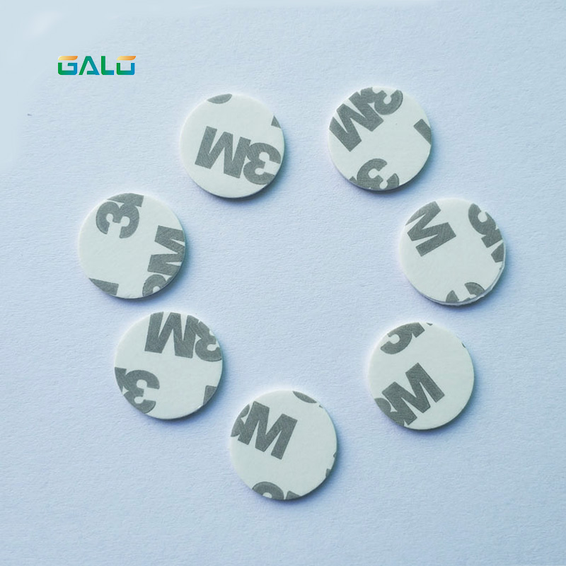 (100PCS/LOT) TK4100(EM4100) RFID 125khz 3M Stickers Coins 25mm Smart Tags Read-only Access Control Cards