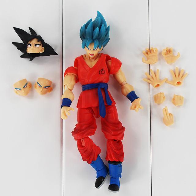 16cm Anime Dragon Ball Z Super Saiyan God Goku