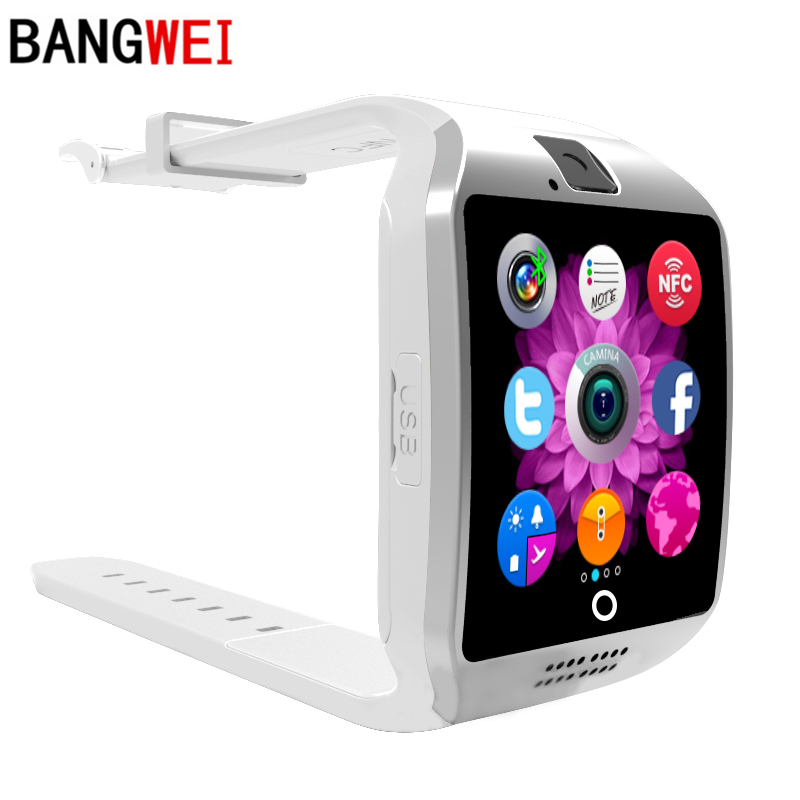 BANGWEI Smart Watch Clock With Sim Card Slot Push Message Bluetooth Connectivity Android Phone Better Than Q18 Smartwatch gt08 smart watch bluetooth 3 0 sim card slot push message bluetooth connectivity nfc for iphone android phoones smartwatch