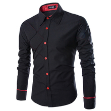 2017 new mens camisas de vestido moda listrada de manga comprida camisa dos homens slim fit casual camisa masculina social clothing m-xxxl 13cs14(China (Mainland))