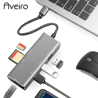 USB HUB Aveiro USB C HUB USB C to 3.0 HUB Thunderbolt 3 Adapter for Type C USB HUBS