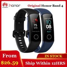 Оригинальный Смарт-браслет huawei Honor Band 4 Amoled цветной 0,95 «сенсорный экран для плавания осанка для определения пульса сна