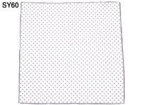 Fashion Men Pocket Square 100 Silk White Gray Dot Floral Print Handkerchief Gift For Wedding Party