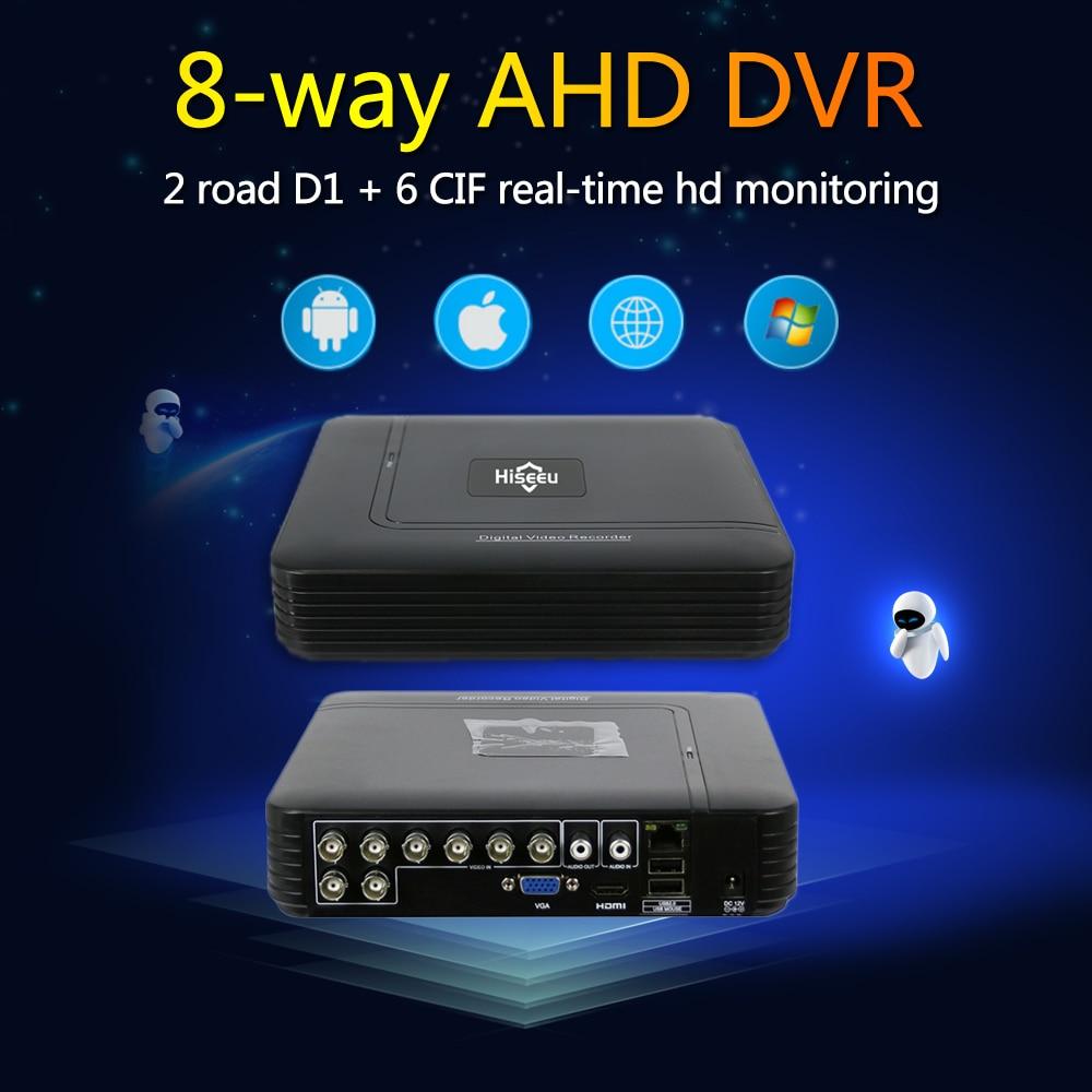 Hiseeu 8CH CCTV DVR AHD 1080N 5IN1 For CCTV Kit DVR VGA Security System HDMI NVR For IP Camera Onvif PTZ DVR Dropshipping 48 1080p 16ch dvr ahd 1080n cctv nvr 5 in1 mini dvr 960p 12ch for cctv kit vga hdmi security system for ip camera ptz onvif 4ch dvr