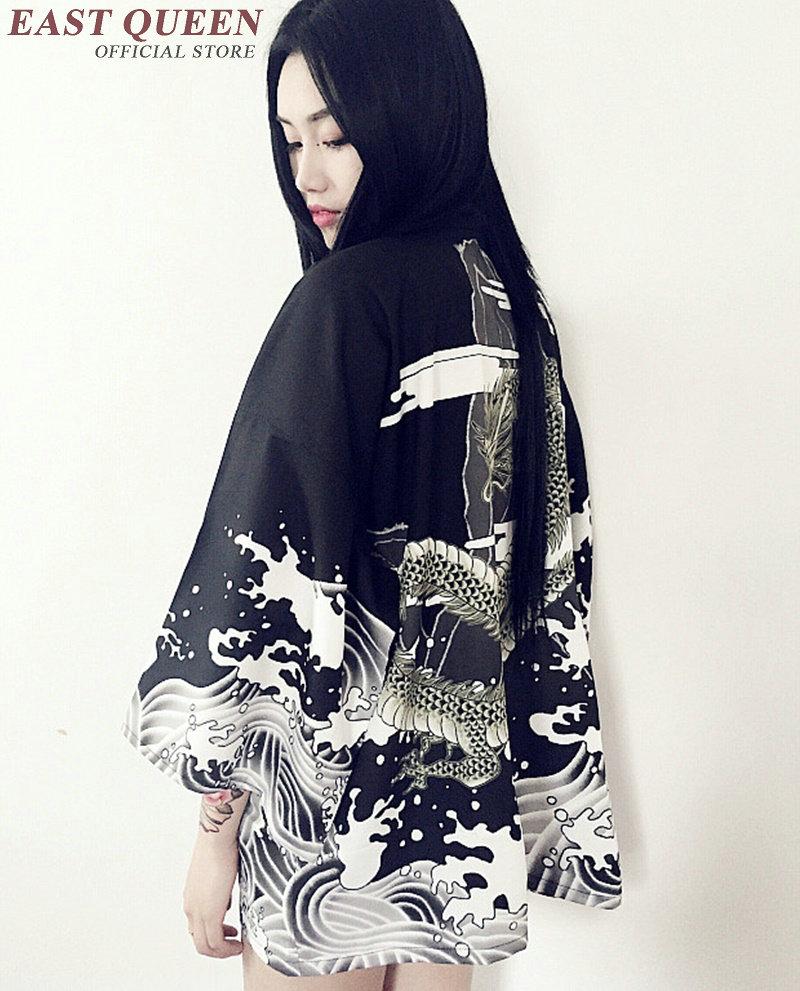 Kimono cardigan japanese japan beach kimono shirt femme traditional 18 japanese kimono traditional robe ladies dragon KK097 8