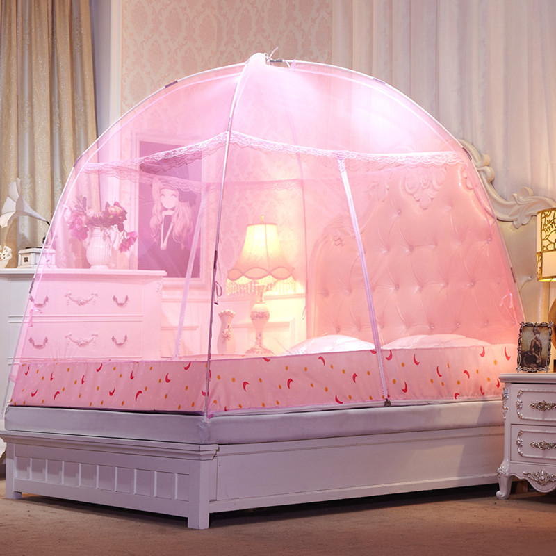 Pink elegant mongolian yurt mosquito net adults bed - Bed canopies for adults ...