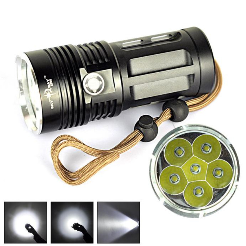 Cycling Bicycle Front Head Flashlight 8500 LM 6T6 6x XM-L T6 LED Flashlight Torch Lamp 3 Modes Super Bright Strobe Effect M25 3800 lumens cree xm l t6 5 modes led tactical flashlight torch waterproof lamp torch hunting flash light lantern for camping z93