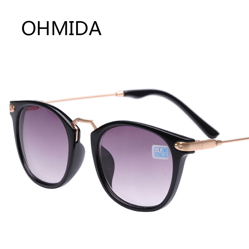 OHMIDA Unisex Myopia Sunglasses Metal Legs Men Student Diopter Myopia Glasses Women -1.00 -1.50 -2.00 -2.50 -3.00 -3.50 -4.00