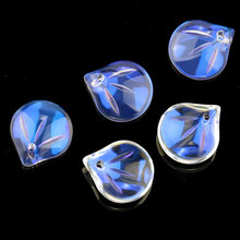 Super shiny 14x16mm leaf shape crystal beads pendant Austria glass for Jewelry DIY earring accessories 10pcs/lot