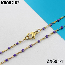 14 см-17 см длина десять цветов золотой цвет 1,5 мм крест цепи цвета смолы нержавеющая сталь браслет для женщин Мода ZX691DG-ZSZ292