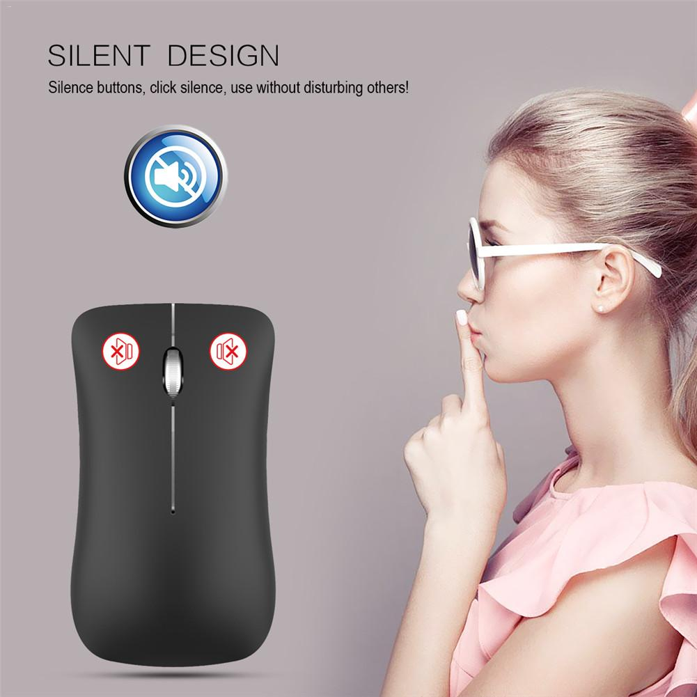 T23 Fashionable Mini Simple Silent Mouse Bluetooth USB Dual Mode 2.4G1600dpi Optical Mouse