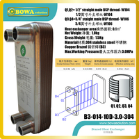 12kW (B3-014-10) warmteoverdracht betweeen water en water PHE is water als binnenlandse boiler in muur opknoping gas ketels