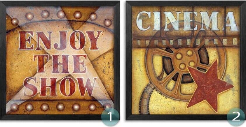 Modern Paintings Movie Filming Acting Canvas Art Print Poster Cinema ...