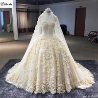 Настоящее индивидуальный заказ Scoop Средства ухода за кожей шеи рукавов Кристалл Платья для женщин Off White Интернет магазин Китай свадебное пл