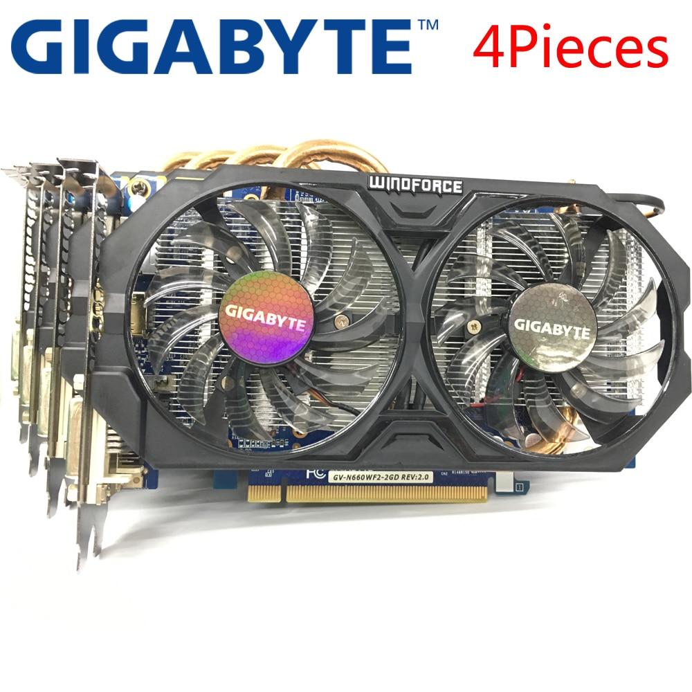 GIGABYTE 4Pieces Graphics Card GTX 660 2GB 192Bit GDDR5