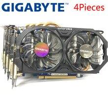 Placa de vídeo, gigabyte 4 peças placa gráfica gtx 660 2gb 192bit gddr5 placas de vídeo para nvidia geforce usado placas vga mais forte do que gtx 750 ti