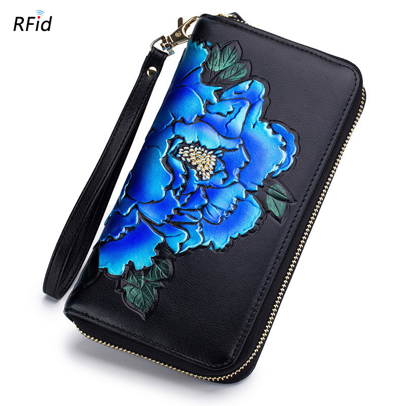 21658a54b33 Aliexpress.com   Buy Genuine Leather Women Credit Card Holder Passport  Cover Chinese Style Rfid Business Card Wallet 36 Card slots Long Clutch  DC372 from ...