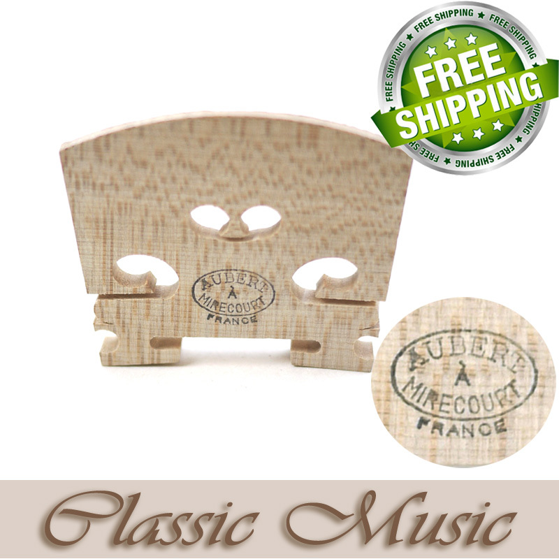 Genuine Aubert Violin Bridge 4/4 Mirecourt, Made in France.