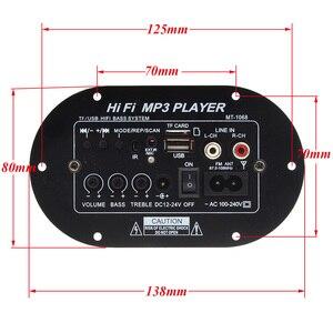 Image 3 - New TA8200AH Peak Power 120W High Power Car Subwoofer Hi Fi Bass Amplifier Board Support TF USB DC12V/24V/AC100V 240V 12003141