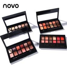 NOVO fashion 12colors matte eyeshadow Palette Glitter naked eyshadow eyePigment