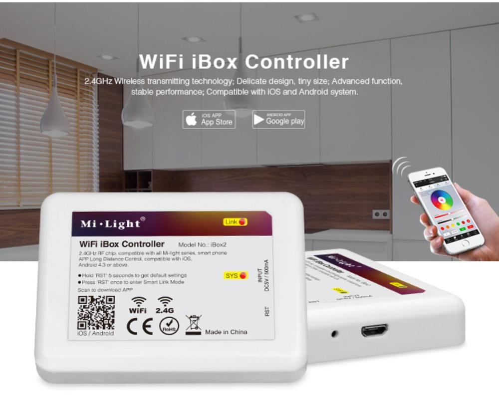 Image 2 - Mi Light iBox2 LED WIFI Controller Smart 2.4G Wireless WiFi rgb Controller For Mi Light RGBW WW LED Bulb Strip Light Lamp-in RGB Controlers from Lights & Lighting