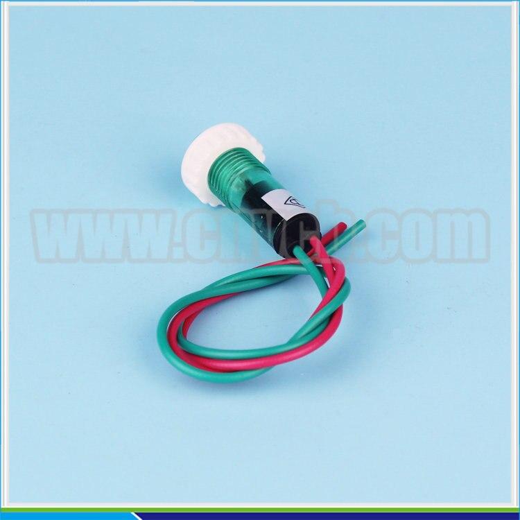 Zs69 Button Blue 10 мм DC12V Пластик индикатор сигнала контрольная лампа сигнальная