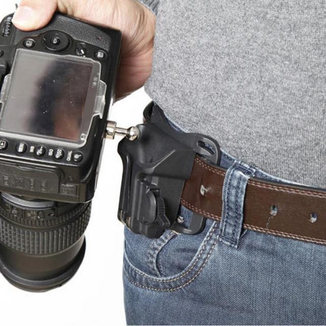 Черный портативный 1/4 быстросъемный поясной ремень пряжка ремень держатель для DSLR камеры полоса для Canon Pentax