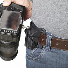 Czarny przenośny 1/4 Quick Release pas biodrowy pasek z klamrą wieszak na zakupy do lustrzanka cyfrowa do Canon Pentax
