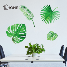 DIY Palm Leaves Tropical Raffia Tree Leaves Wall Sticker Vinyl Mural Art for Kids Room Wall Decals Home Decor Living Room