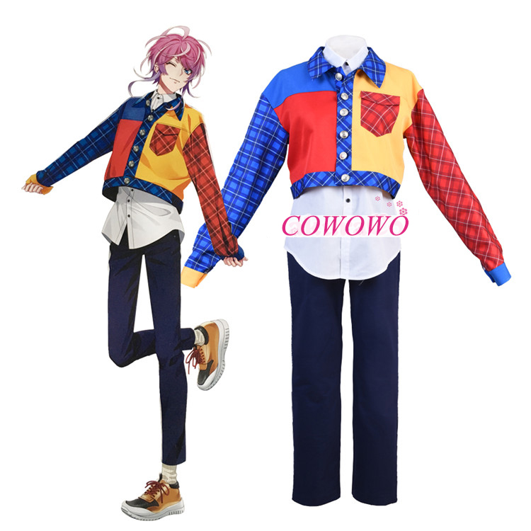 Division Rap Battle Ramuda Amemura Adult Cosplay Costume with Necklace Gift