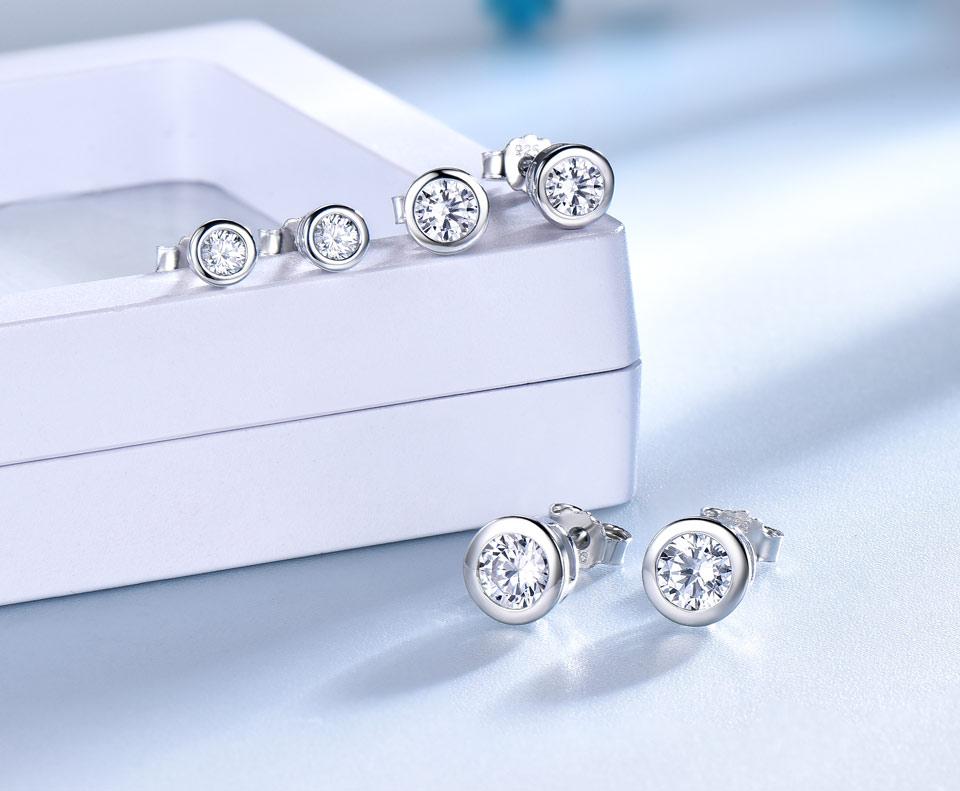 UMCHO CZ Silver sterling stud earrings for women EUJ052Z-1-pc (4)