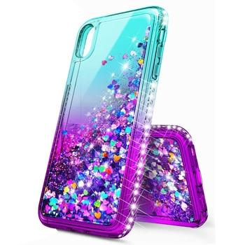 For iPhone X XR XS Max Case Luxury Quicksand Liquid Case Bling Sequin Glitter Diamond Hard Back Cover For iPhone X Xs XR Xs Max 3