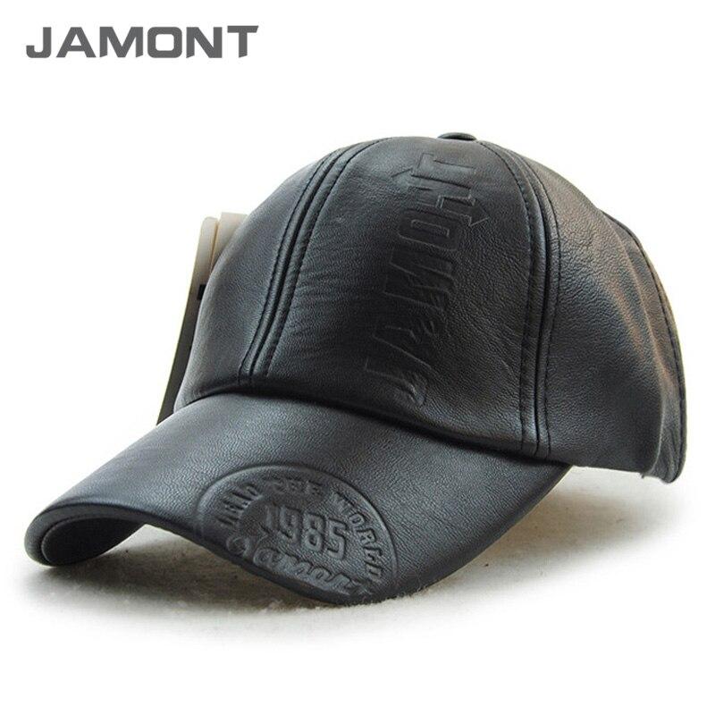 Prix pour [Jamont] 2017 hiver pu en cuir casquette de baseball chaud chapeaux pour hommes z-3388
