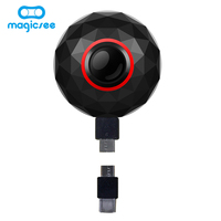 Magicsee 3K HD mini 360 camera live Panoramic Camera portable pocket VR Camera Dual Lens camera 360 for Type c/Micro usb phones