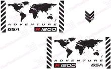 "GSA Adventure Motorcycle Reflective Decal Kit ""World Adventure R1200"" for Touratech Panniers"